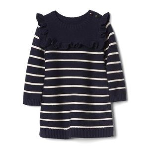 GAP Knit Nautical Striped Sweater Dress